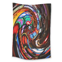 Abstract Chinese Inspired Background Large Tapestry by Simbadda