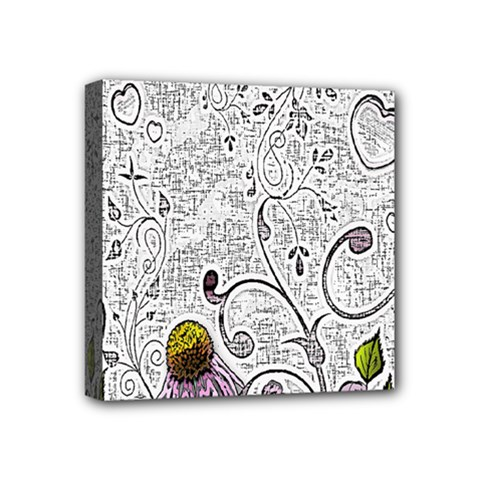 Abstract Pattern Mini Canvas 4  X 4  by Simbadda