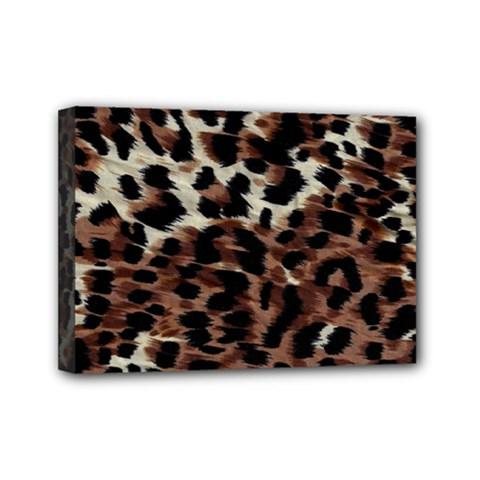 Background Fabric Animal Motifs Mini Canvas 7  X 5  by Simbadda