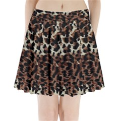 Background Fabric Animal Motifs Pleated Mini Skirt by Simbadda