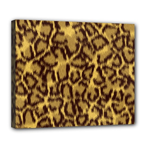 Seamless Animal Fur Pattern Deluxe Canvas 24  x 20