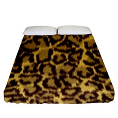 Seamless Animal Fur Pattern Fitted Sheet (Queen Size)