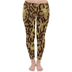 Seamless Animal Fur Pattern Classic Winter Leggings