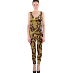 Seamless Animal Fur Pattern OnePiece Catsuit