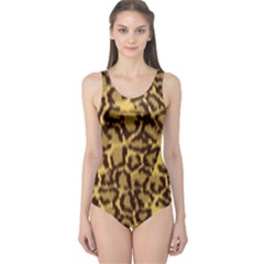 Seamless Animal Fur Pattern One Piece Swimsuit