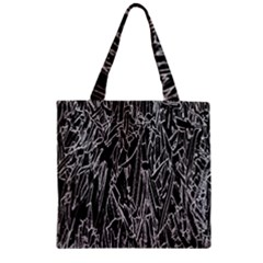 Gray Background Pattern Zipper Grocery Tote Bag by Simbadda