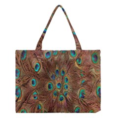 Peacock Pattern Background Medium Tote Bag by Simbadda