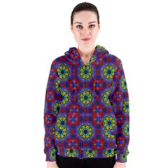 Abstract Pattern Wallpaper Women s Zipper Hoodie