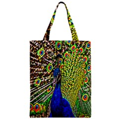 Graphic Painting Of A Peacock Classic Tote Bag by Simbadda