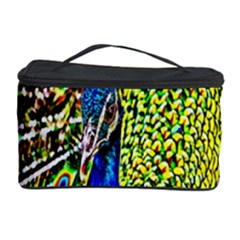 Graphic Painting Of A Peacock Cosmetic Storage Case by Simbadda