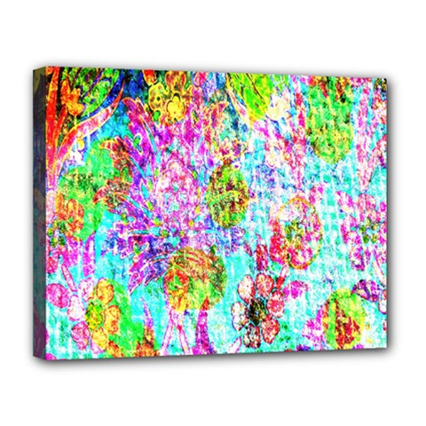 Bright Rainbow Background Canvas 14  X 11  by Simbadda