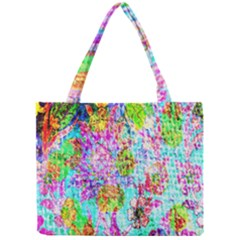 Bright Rainbow Background Mini Tote Bag by Simbadda