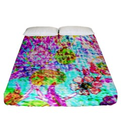 Bright Rainbow Background Fitted Sheet (king Size) by Simbadda