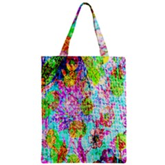 Bright Rainbow Background Zipper Classic Tote Bag by Simbadda