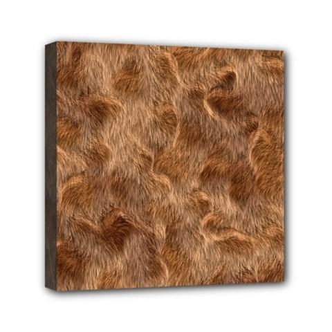 Brown Seamless Animal Fur Pattern Mini Canvas 6  X 6  by Simbadda