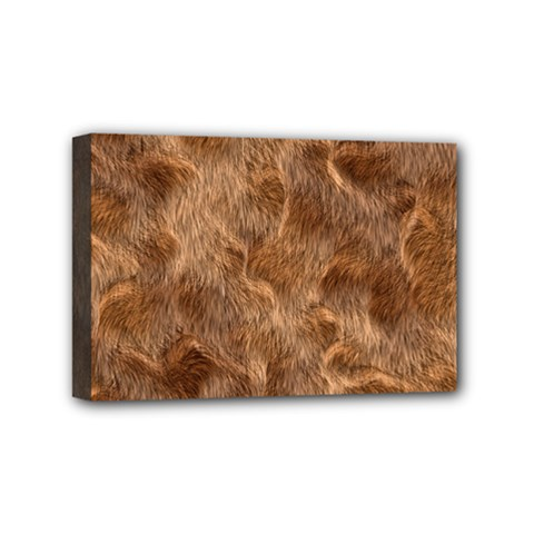 Brown Seamless Animal Fur Pattern Mini Canvas 6  X 4  by Simbadda