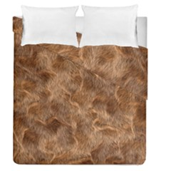 Brown Seamless Animal Fur Pattern Duvet Cover Double Side (queen Size) by Simbadda