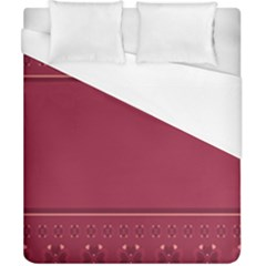 Heart Pattern Background In Dark Pink Duvet Cover (california King Size) by Simbadda