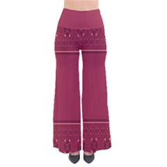 Heart Pattern Background In Dark Pink Pants by Simbadda