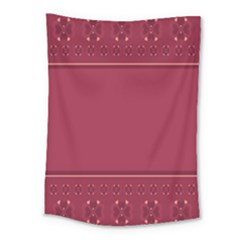Heart Pattern Background In Dark Pink Medium Tapestry by Simbadda