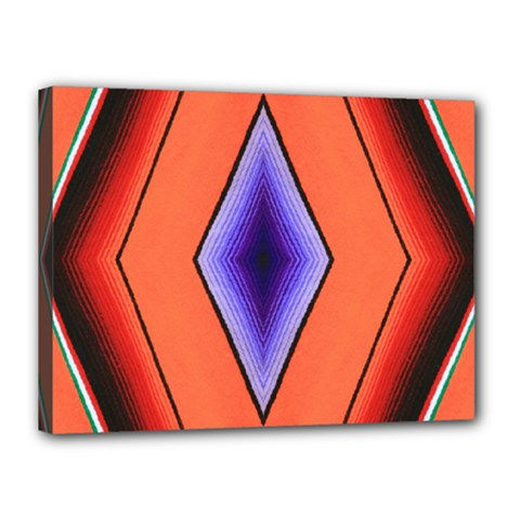 Diamond Shape Lines & Pattern Canvas 16  X 12  by Simbadda