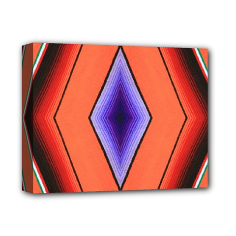 Diamond Shape Lines & Pattern Deluxe Canvas 14  X 11  by Simbadda