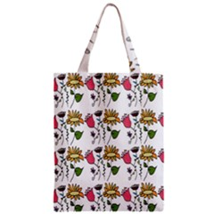 Handmade Pattern With Crazy Flowers Zipper Classic Tote Bag by Simbadda