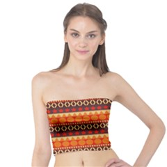 Abstract Lines Seamless Pattern Tube Top
