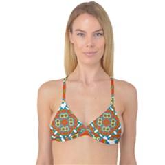 Digital Computer Graphic Geometric Kaleidoscope Reversible Tri Bikini Top by Simbadda