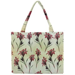 Vintage Style Seamless Floral Wallpaper Pattern Background Mini Tote Bag by Simbadda