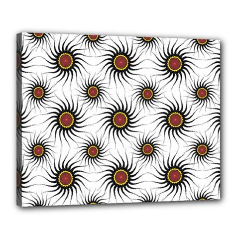 Pearly Pattern Half Tone Background Canvas 20  X 16  by Simbadda