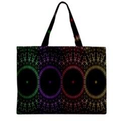 Digital Colored Ornament Computer Graphic Mini Tote Bag by Simbadda