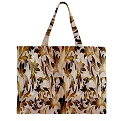 Floral Vintage Pattern Background Zipper Mini Tote Bag by Simbadda