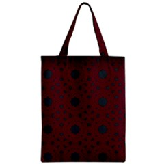 Blue Hot Pink Pattern With Woody Circles Zipper Classic Tote Bag