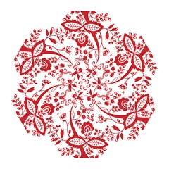 Red Vintage Floral Flowers Decorative Pattern Clipart Mini Folding Umbrellas by Simbadda