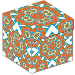 Digital Computer Graphic Geometric Kaleidoscope Storage Stool 12   by Simbadda