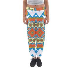 Digital Computer Graphic Geometric Kaleidoscope Women s Jogger Sweatpants by Simbadda
