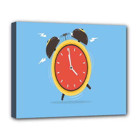 Alarm Clock Weker Time Red Blue Deluxe Canvas 20  X 16   by Alisyart
