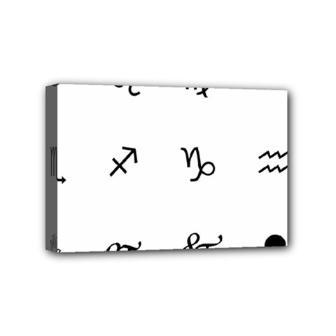 Set Of Black Web Dings On White Background Abstract Symbols Mini Canvas 6  X 4  by Amaryn4rt
