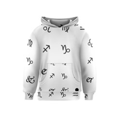 Set Of Black Web Dings On White Background Abstract Symbols Kids  Pullover Hoodie by Amaryn4rt
