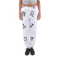 Set Of Black Web Dings On White Background Abstract Symbols Women s Jogger Sweatpants by Amaryn4rt