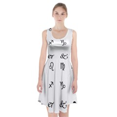 Set Of Black Web Dings On White Background Abstract Symbols Racerback Midi Dress by Amaryn4rt
