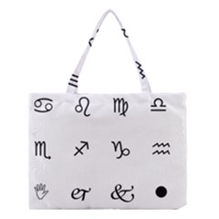 Set Of Black Web Dings On White Background Abstract Symbols Medium Tote Bag by Amaryn4rt