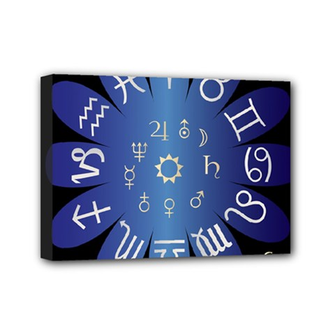 Astrology Birth Signs Chart Mini Canvas 7  X 5  by Amaryn4rt