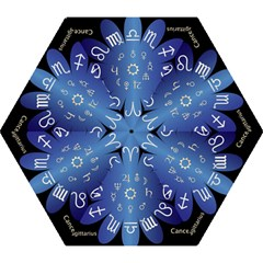 Astrology Birth Signs Chart Mini Folding Umbrellas by Amaryn4rt