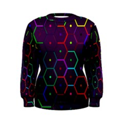 Color Bee Hive Pattern Women s Sweatshirt by Amaryn4rt