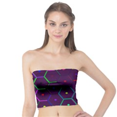 Color Bee Hive Pattern Tube Top by Amaryn4rt