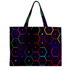 Color Bee Hive Pattern Medium Tote Bag by Amaryn4rt