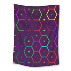 Color Bee Hive Pattern Medium Tapestry by Amaryn4rt