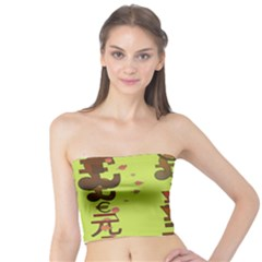Set Of Monetary Symbols Tube Top by Amaryn4rt